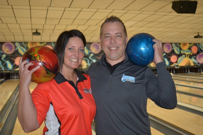 Steph Miller and Terry Miller share a passion for the game of bowling.