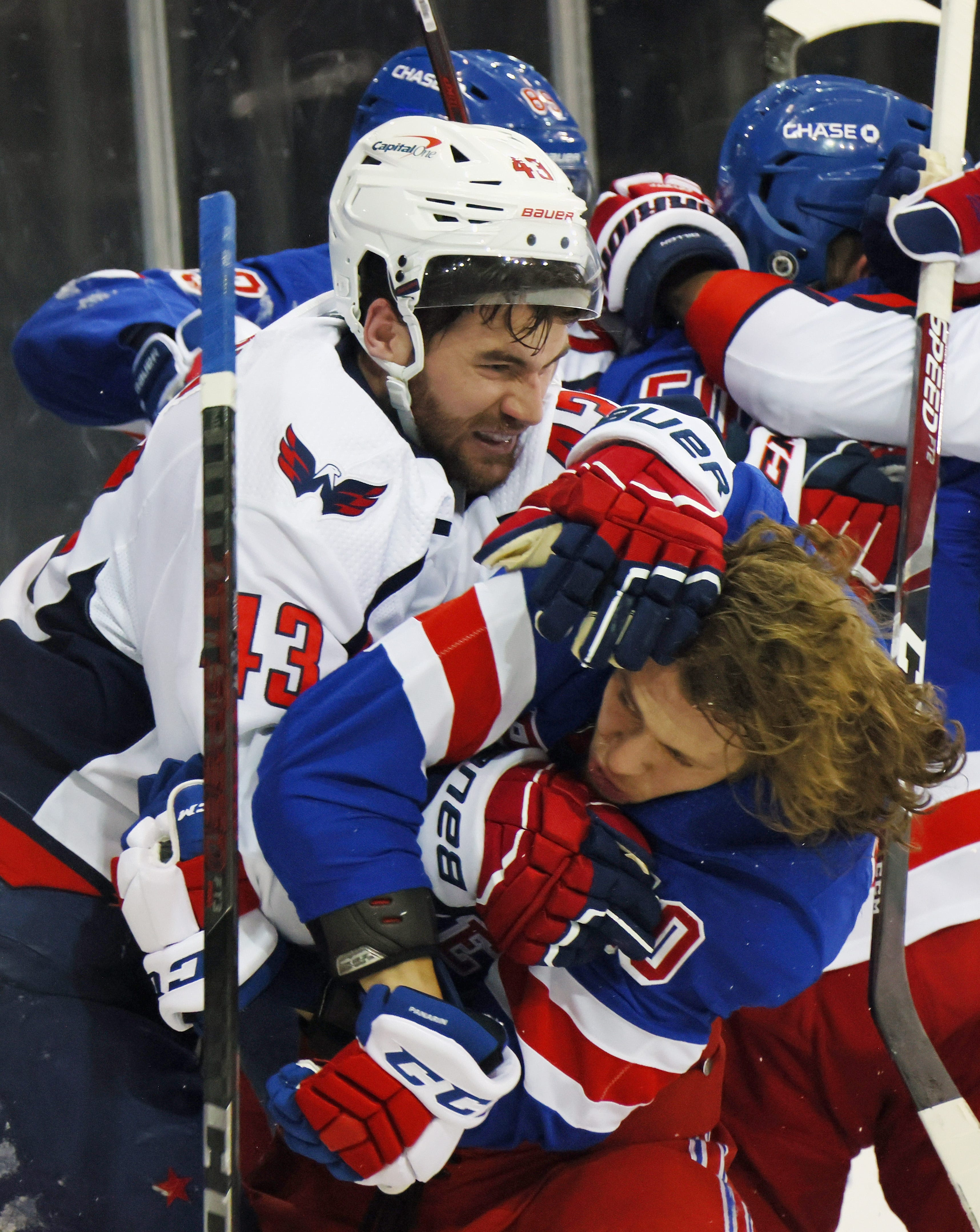 NHL fines Washington Capitals  Tom Wilson $5,000 for instigating massive brawl against New York Rangers