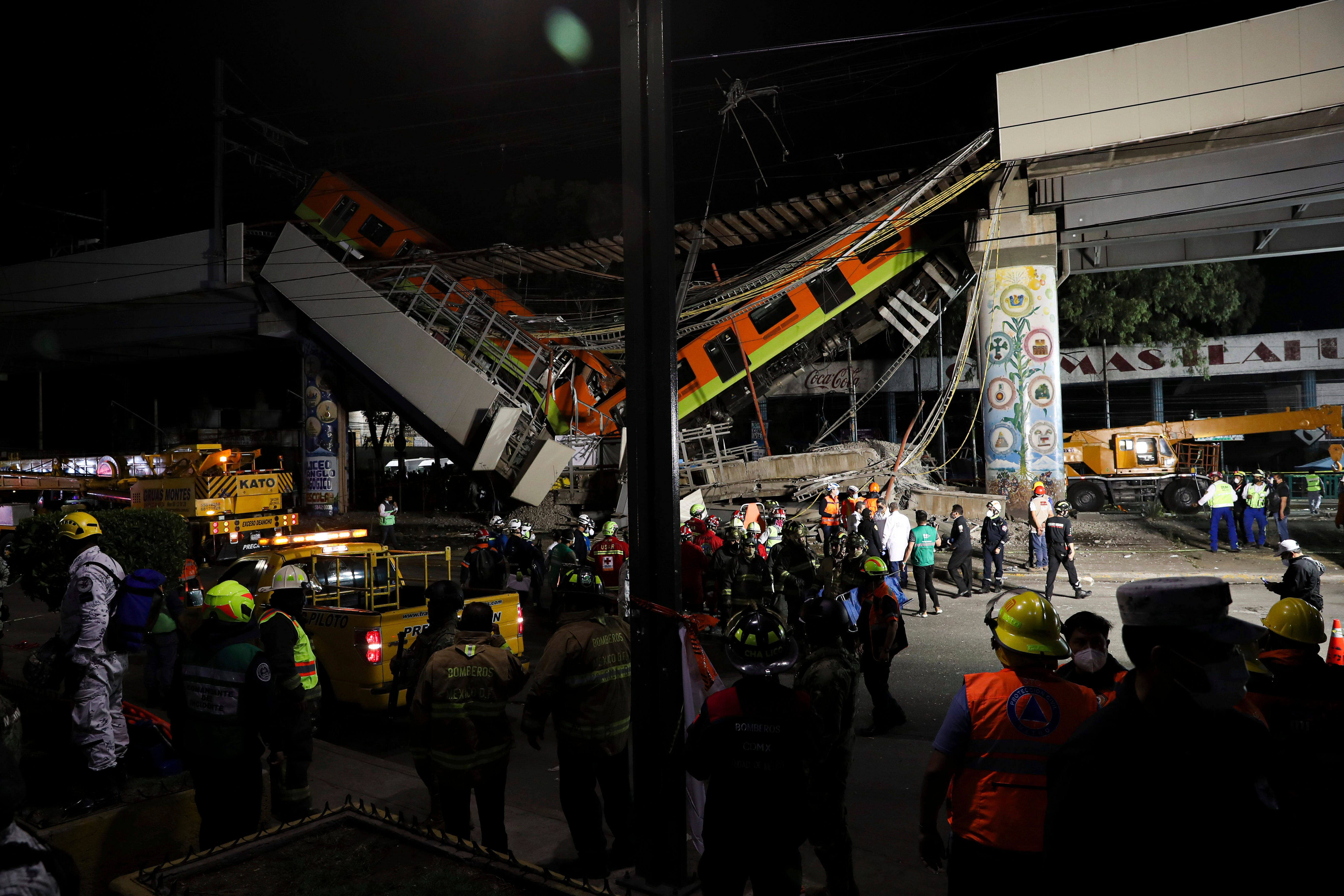 No impunity for anyone : Mexican president promises investigation after train overpass collapse kills at least 23