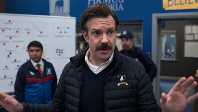 """Jason Sudeikis is an American football coach propelled into the world of British football in comedy """"Ted Lasso."""""""