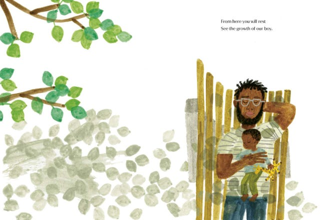 "An inside look at Duchess Meghan's children's book ""The Bench."""