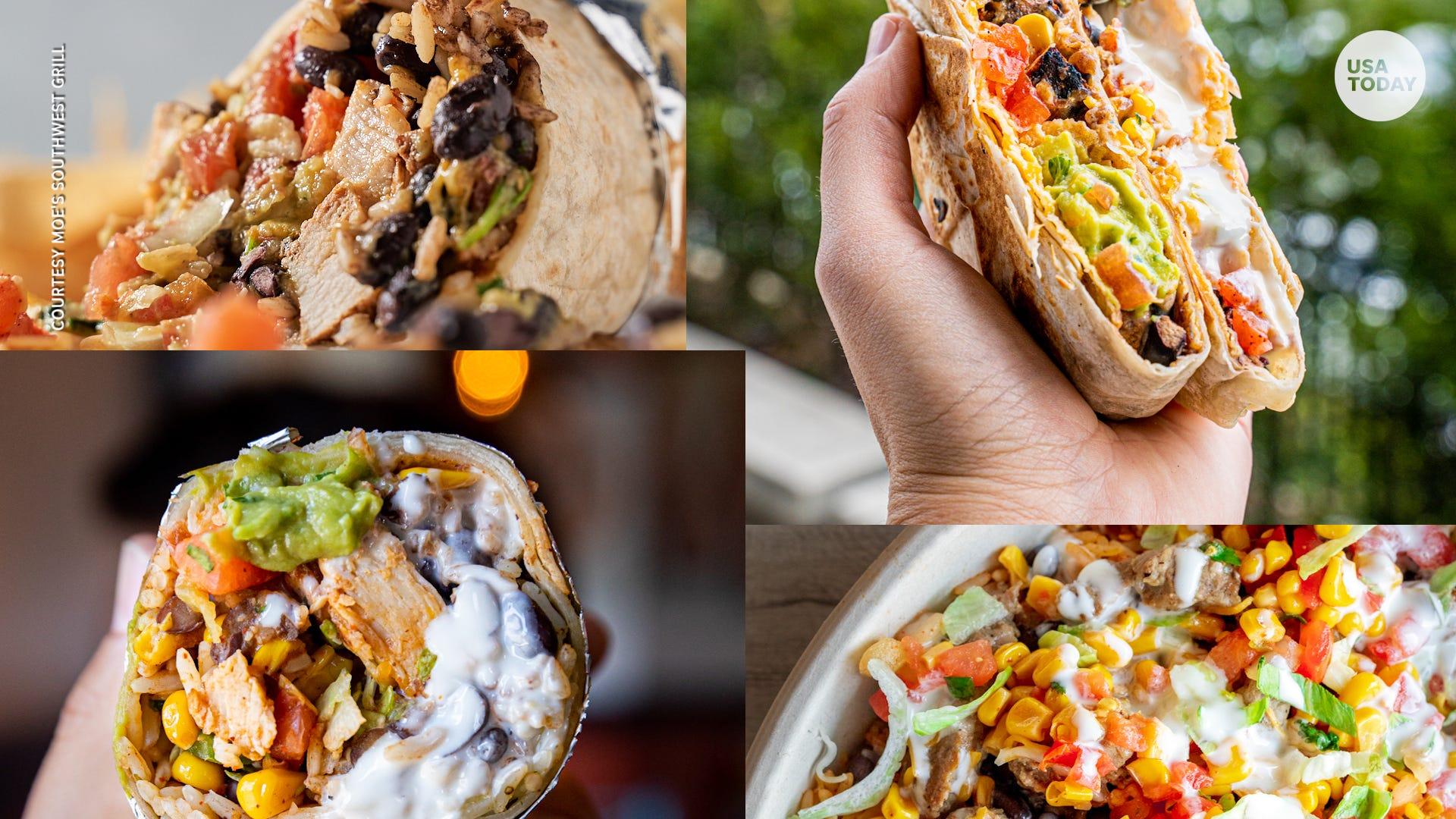 Chipotle, Taco Bell, Chili's, Del Taco