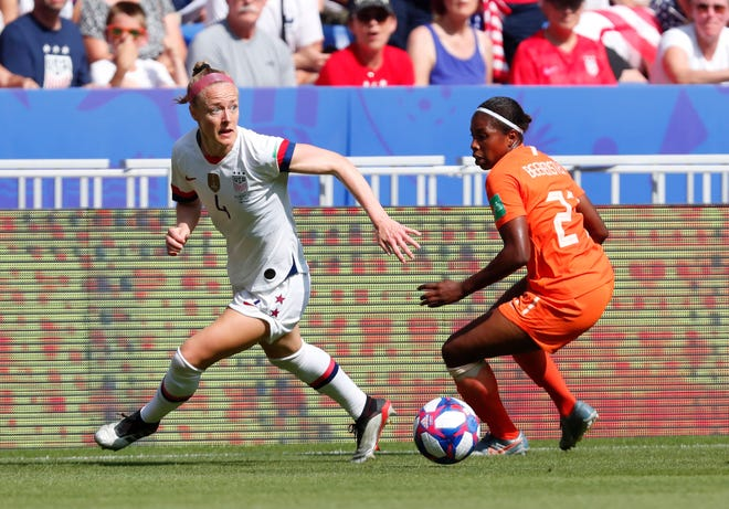 United States team captain Becky Sauerbrunn, left, is this week's guest on the Statesman FC podcast.