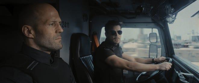 "Jason Statham stars as H and Josh Hartnett stars as Boy Sweat Dave in director Guy Ritchie's ""Wrath of Man."""