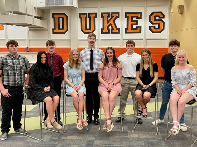 Candidates for Marlington High School's prom court include, from left, Cody Cook, Calli Swisher, Brenden Hamilton, Mary Mason, Aiden Trummer, Allison Lacher, Evan Bland, Olivia Ryan, Nate Pulka and Morgan Davis.