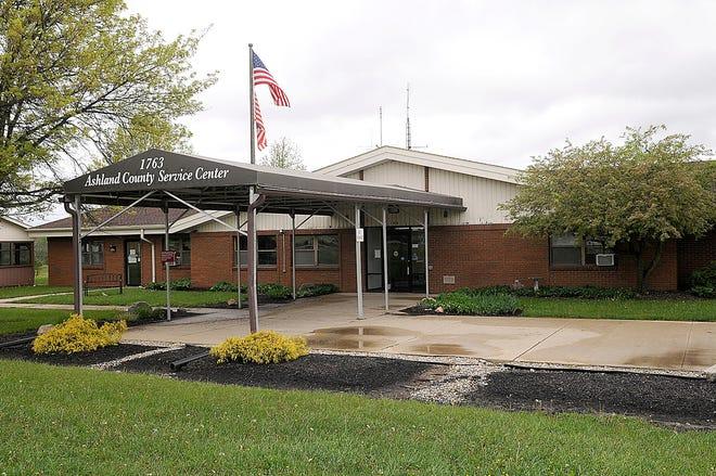 The Ashland County Service Center is seen here Wednesday, May 5, 2021. TOM E. PUSKAR/TIMES-GAZETTE.COM