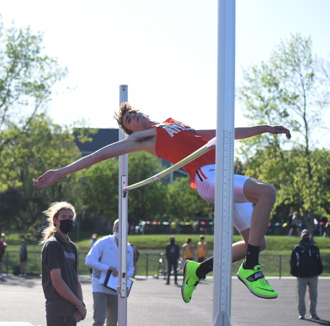 Tate Zalasky continued his phenomenal senior season in the boys' high jump for Ames by winning a CIML-Iowa championship in the event with a jump of 6-4 Tuesday at the boys' conference meet in Ankeny. Zalasky currently ranks fourth among all high jumpers in the state and is second in Class 4A.