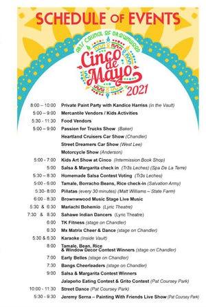 Cinco de Mayo schedule of events