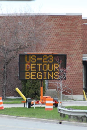City officials are concerned about the detour for the work on US-23 interfering with the city's Fourth of July Parade due to Main Street not being able to be closed down as it is part of the detour.