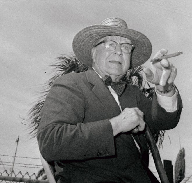Ohio native Branch Rickey, shown here in 1963, had a business modelthat promoted paritybysharingtelevision revenues, providingequal access to talentandoffering players suchperksas a real pension plan.