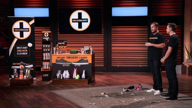 """Chris Pavlica, left, and Kevin Consolo will appear Friday night on """"Shark Tank."""""""