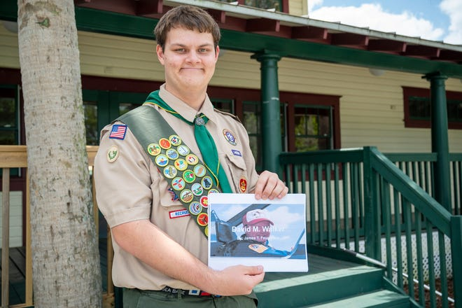 Mount Dora boy scout James Feuerstein, 17, has made it his mission to create awareness and build a memorial in honor of David Walker, Lake County's first and only astronaut. [Cindy Peterson/Correspondent]