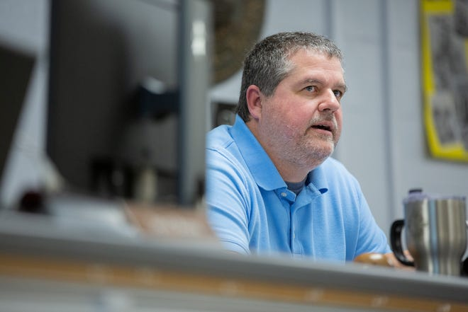Maury County School Board Chairman Michael Fulbright speaks during a meeting at Horace O. Porter School in Columbia, Tenn., on Tuesday, May 4, 2021. Fulbright supports pausing on the sale of McDowell Elementary School.
