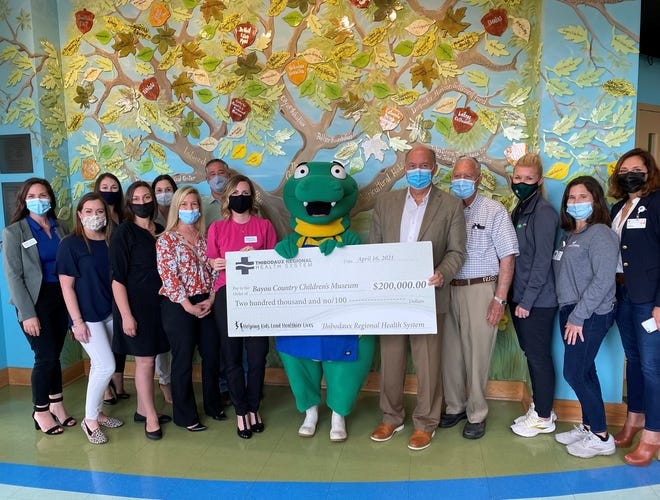 Thibodaux Regional Health System announced a partnership with the Bayou Country Children's Museum to promote health and wellness throughout the area.