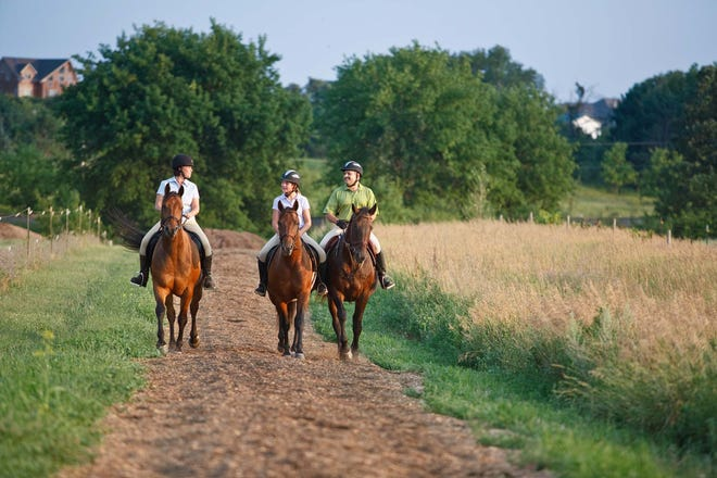 In Minnesota, more than 1,000 miles of horseback riding trails are managed by the state Department of Natural Resources