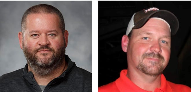 From left: Tom Bean named Lance Cherry as its athletic director and Aaron Whitmire as the head football coach.