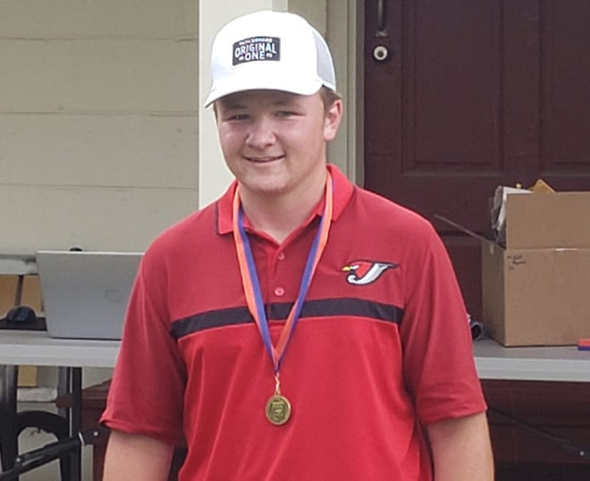 Jacksonville sophomore Tyler Jones shared the NCHSAA 3-A East Regional title on Monday in Wilson.