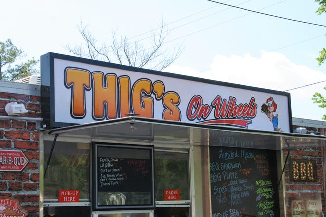 Thig's On Wheels, the food truck version of a popular BBQ restaurant in Richlands, reopened at the end of April after a Jan. 2020 kitchen fire forced the restaurant to close.