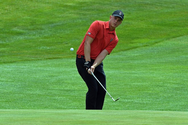 Texas Tech golfer Kyle Hogan, pictured at a tournament earlier this year, was 1 under par after 27 holes of a 36-hole U.S. Open final qualifier Monday at Dallas Athletic Club. Hogan and the Red Raiders play in the NCAA championship tournament that starts Friday in Scottsdale, Arizona.