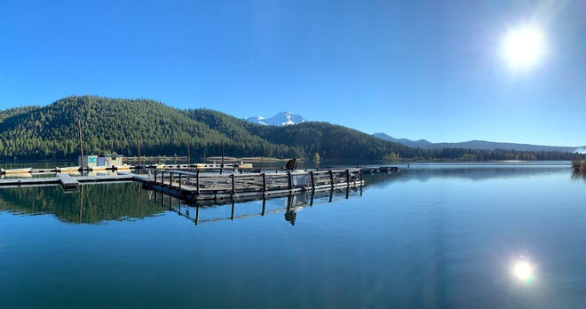 The Mt. Shasta Rotary's trout pens at Lake Siskiyou
