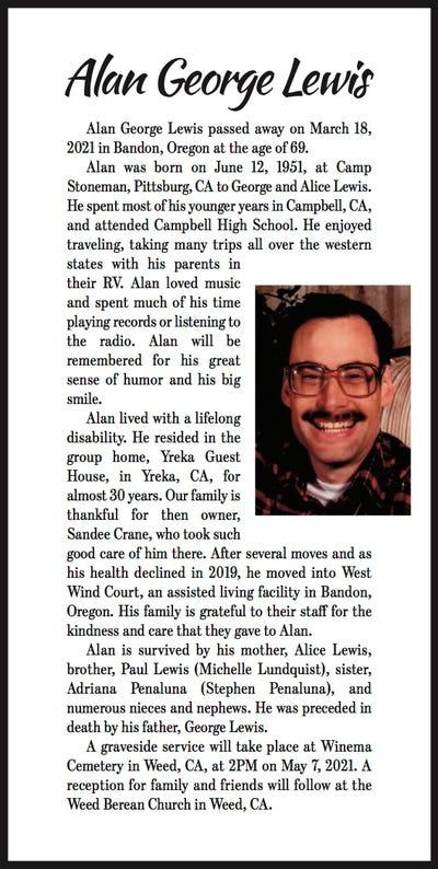 Obituaries in Mt Shasta, CA | Mount Shasta Herald