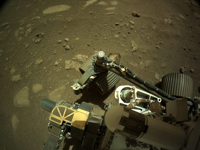 NASA's Mars Perseverance rover acquired this image using its onboard Right Navigation Camera.