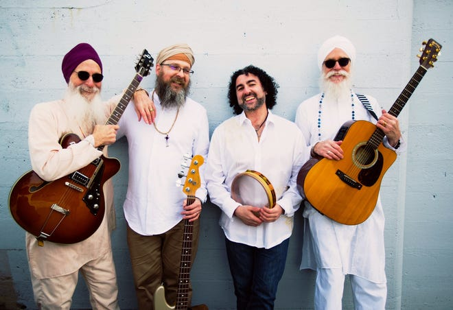 """The Guruganesha Band is an """"adventurous ensemble"""" hailed for its """"conscious rock 'n' roll for the soul"""". Guruganesha seamlessly weaves mantras in the Sikh tradition with musical inspirations that range from the Grateful Dead to the Allman Brothers to the Dave Matthews Band. The band will perform shows in Milford and Hawley in July."""