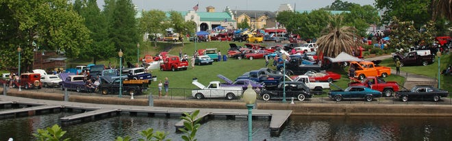 """Hundreds of vintage cars adorned the grounds of Mark A. """"Tony"""" Gulotta Waterfront Park for the 23rd annual St. Jude Car Show on Saturday, May 1."""