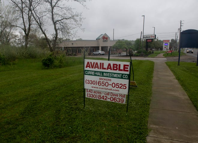 The 4.47-acre property just south of Marc's in Kent is the subject of a rezoning request.