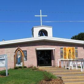 A photo of Saint Kateri Tekakwitha Mission Catholic Church in Bay Mills Township.