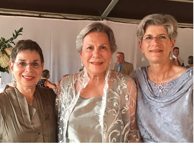 From left, Rhonda Tenenbaum, Phyllis Tenenbaum Mintz and Lori T. Dubin. Mother Phyllis encouraged her two daughters to cherish memories of their father and sister, who died in 1966 in a car accident. She also told them to live their own lives, even if it meant leaving Savannah.