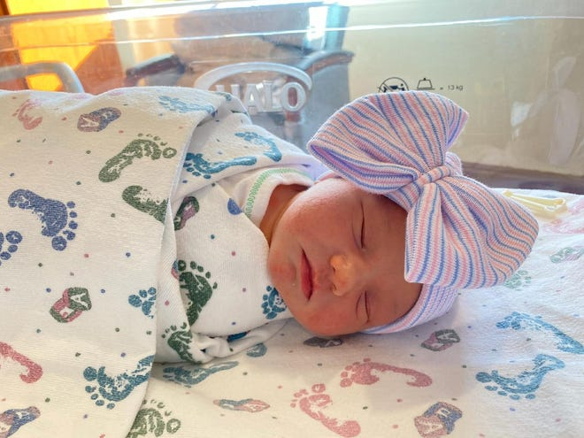 Hazel was born April 6, 2021, at United Regional Hospital in Wichita Falls, Texas.