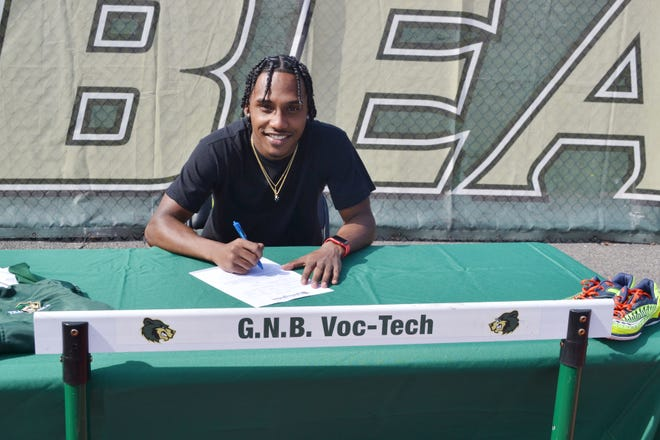 GNB Voc-Tech's Alex DaCruz will compete in track and field next year at American International College.