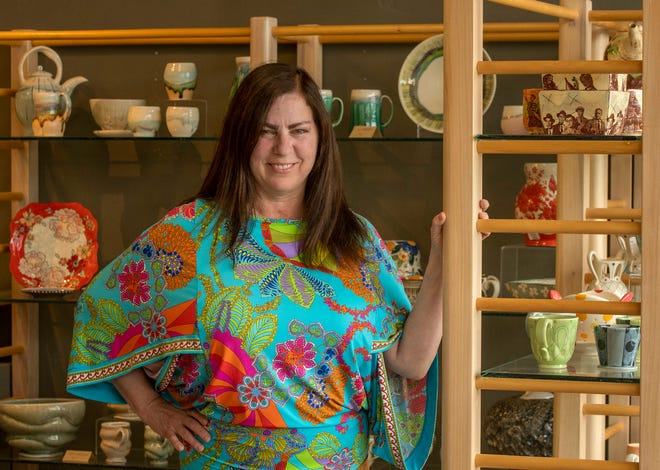 """Elaine McKenna-Yeaw became executive director of the Worcester Center for Crafts in April 2019.  """"Two years. One was a whirlwind because it was my first year,and the second year was COVID,"""" shesaid."""