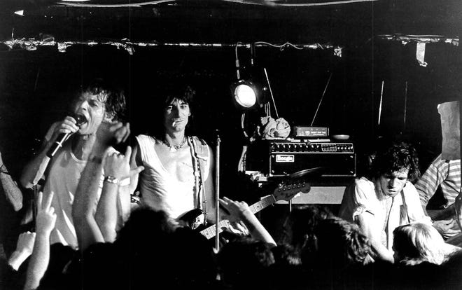 The Rolling Stones on stage at Sir Morgan's Cove Sept. 14, 1981.