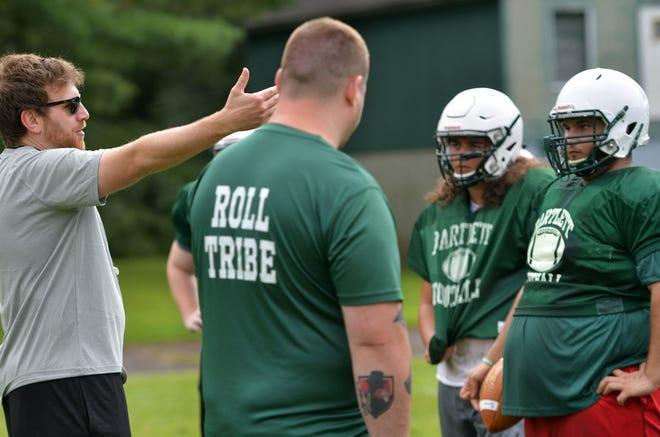 Bartlett coach Dane Laboissonniere directs practice in 2018.