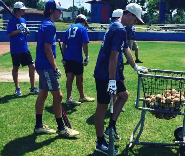 The Keystone Heights High School baseball team prepares for the region playoffs.