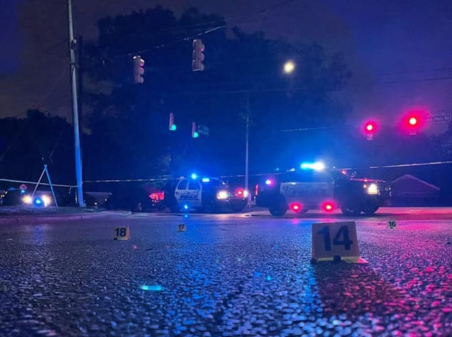 One person is dead after being shot inside a vehicle late Tuesday nearthe intersection of Fosters Ferry Road and 21st Street.