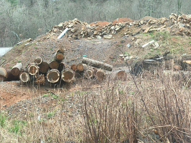 This construction debris landfill off Cane Creek Road in Southern Buncombe County is permitted, the county says.