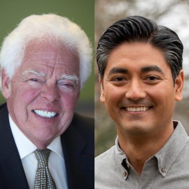 Cincinnati mayoral candidates: David Mann, left, and Aftab Pureval
