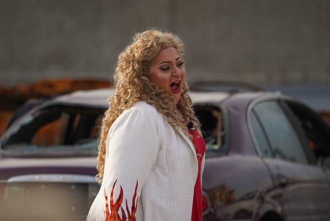 "Soprano Christine Goerke, seen here in MOT's staging last fall of ""Twilight: Gods,"" will star in ""Cavalleria rusticana."""