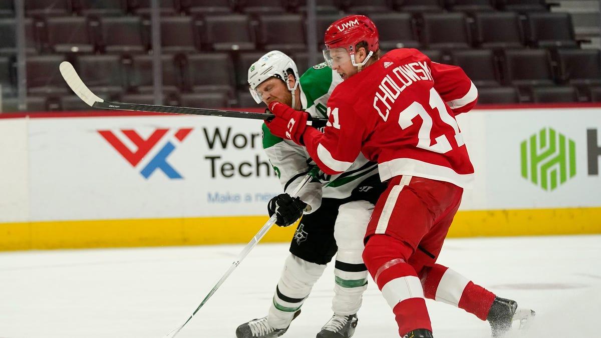 Kraken take Dennis Cholowski from Red Wings in NHL Expansion Draft 1