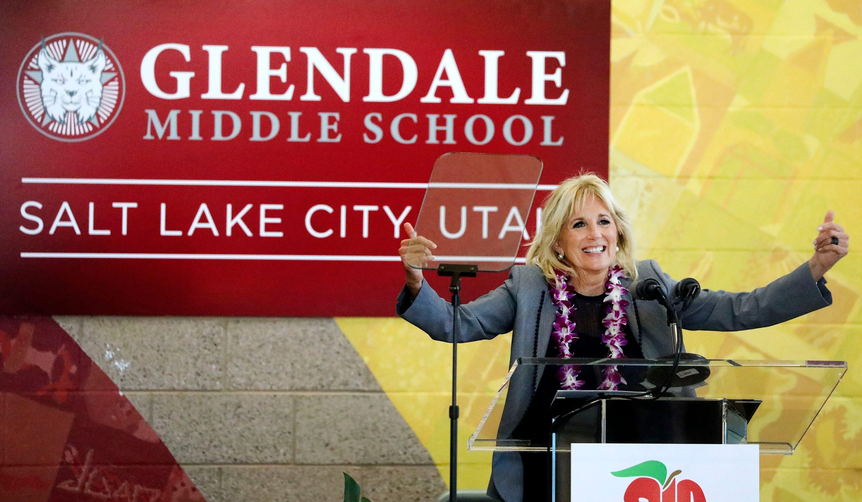 Jill Biden visits Utah school as US moves toward reopening 1