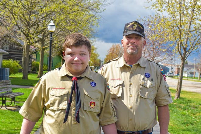 Anthony Carter completed his Eagle Scout project under the tutelage of his grandfather and Scout leader, Alan Carter. Alan said he hopes Anthony inspires other kids with learning disabilities to join Scouts.