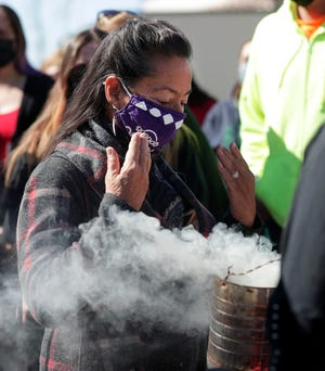 The Oneida Nation held a tobacco-burning and smudging ceremony May 5, on the Oneida Casino property after a shooter killed two people and injured a third on May 1 in Ashwaubenon.