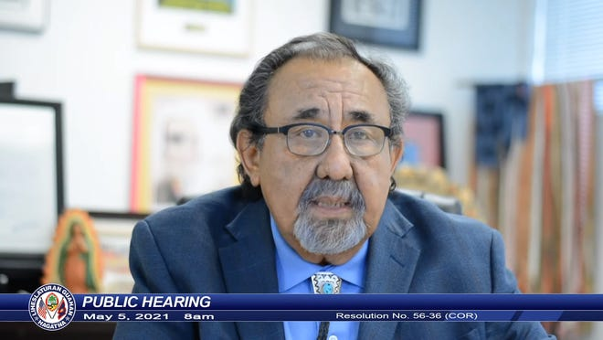 House Natural Resources Chairman Rep. Raul Grijalva provided video testimony during the hearing