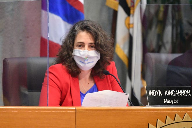 Knoxville Mayor Indya Kincannon leads the first in-person City Council meeting in over a year on Tuesday.