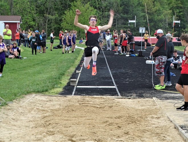 Liberty Union senior Jimmy Rhoads placed first in the long jump, and had first-place finishes in the pole vault, 100, and 100 hurdles during Tuesday's Bob Hamm Classic Invitational.