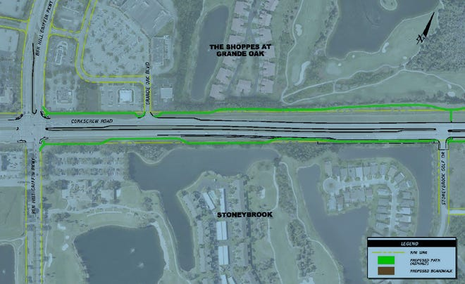 Estero Village Council wants to expand pedestrian and bicycle pathways as part of Lee County's project to widen Corkscrew Road east of Ben Hill Griffin Parkway