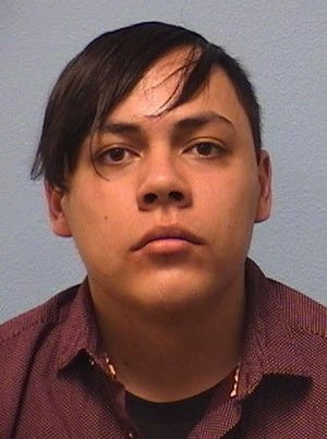 Joel Arciniega Saenz, 25, is suspected of causing damage to two businesses April 24 in the Mesquite Historic District. Las Cruces police have obtained a warrant for his arrest.